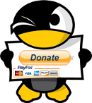 Linux tux donate button made by Cerebrux