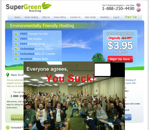Super Green Hosting Sucks