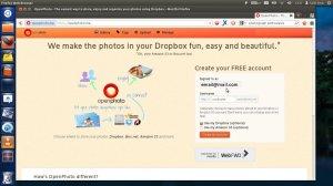 openphoto create account