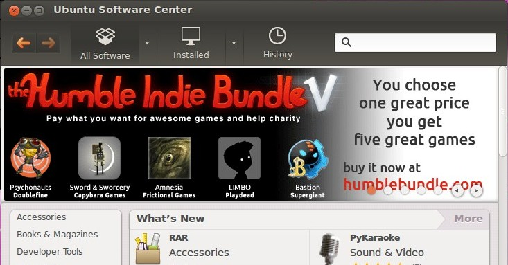 Humble Indie bundle on Ubuntu