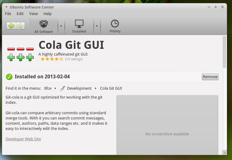 Github Git Cola GUI: Install