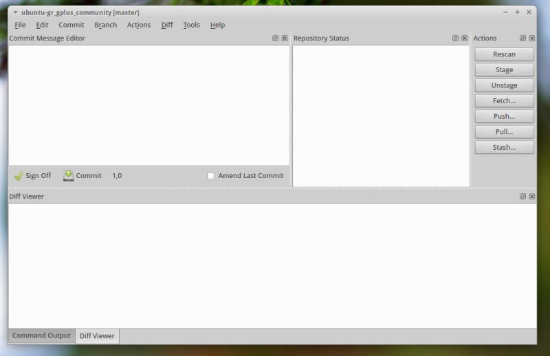 Github Git Cola GUI: Main Window