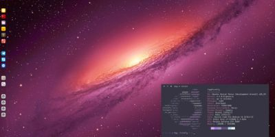 Wallpaper: Γαλαξίας Ubuntu