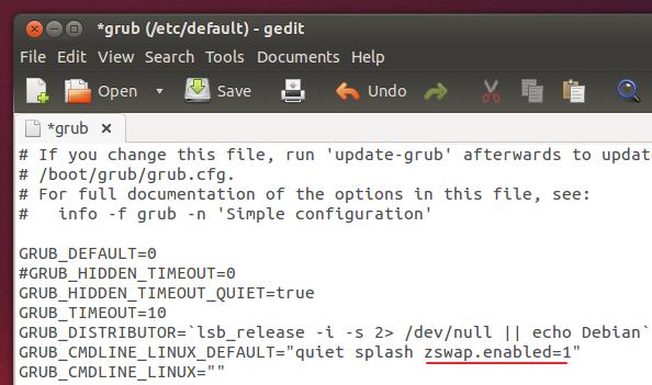 zswap-using-GRUB-configuration-file-Ubuntu