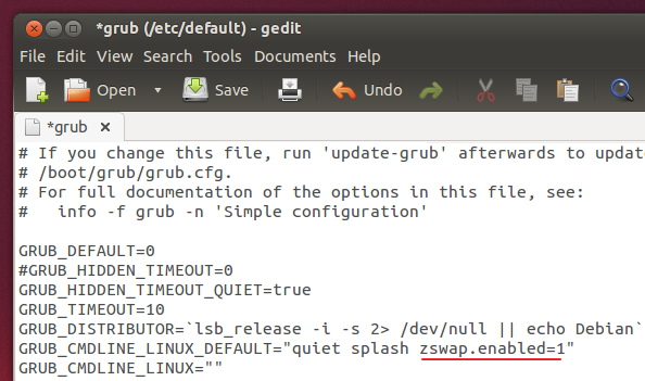 zswap-using-GRUB-configuration-file-Ubuntu