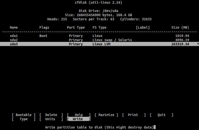Ότι πιο κοντινό θα δει κανείς σε γραφικό περιβάλλον κατά τη διάρκεια εγκατάστασης του Arch Linux