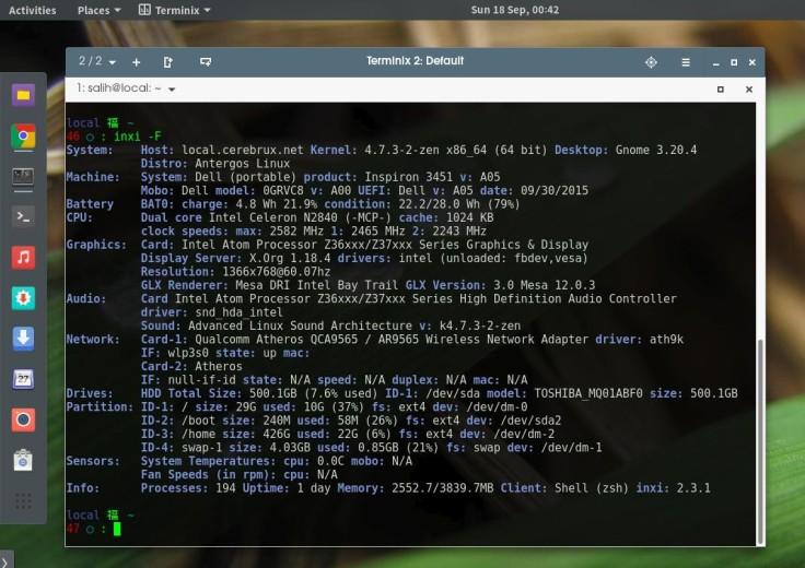 Εργαλεία για πληροφορίες Hardware με το inxi
