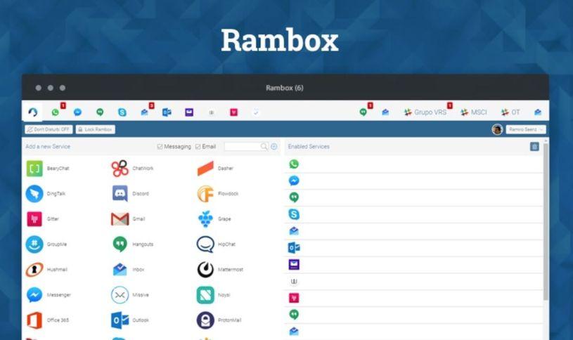 Rambox: Όλα τα chat σε μία εφαρμογή !