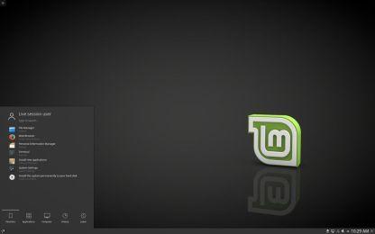 Linux Mint KDE έκδοση - Η επιφάνεια εργασίας
