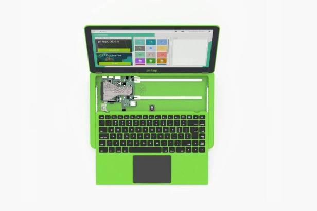 Pi-Top Raspberry Pi Laptop εσωτερικά απο πάνω
