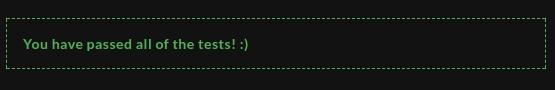 codewars all tests