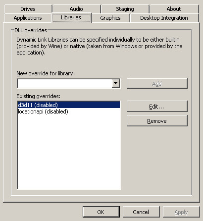 hearthstone στο linux ρύθμιση βιβλιοθηκών