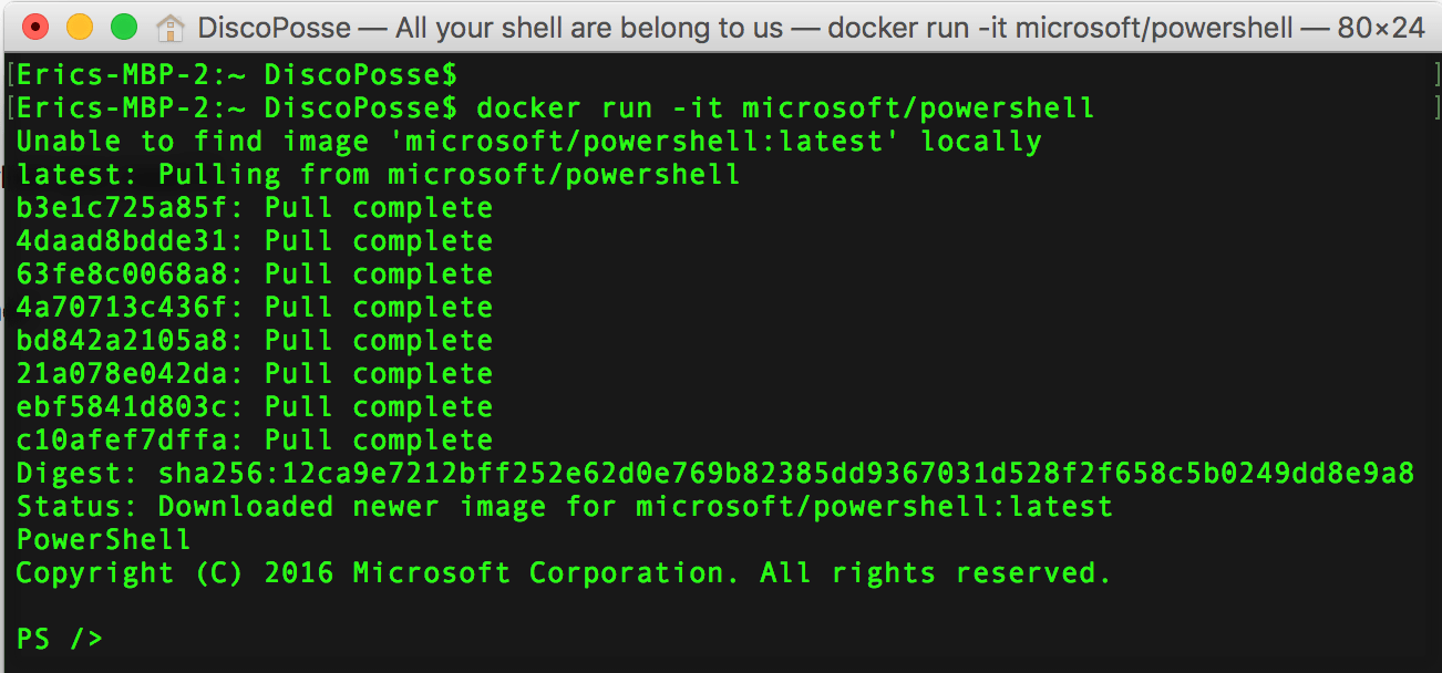 powershell core