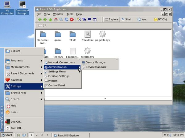 reactos-desktop