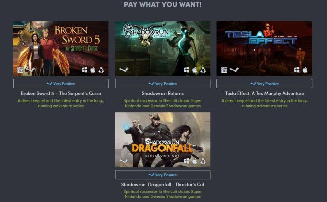 Humble Classics Return Bundle