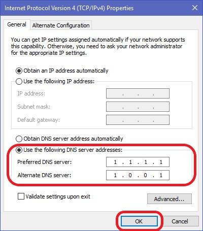 DNS change 12