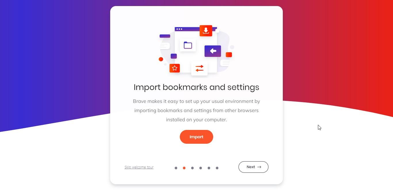 Εισαγωγή δεδομένων από άλλο Browser στο Brave