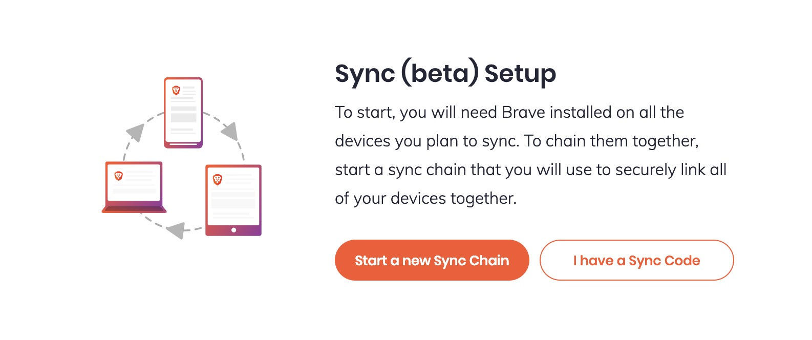 Μπορείτε να συγχρονίσετε τα δεδομένα του Brave στις συσκευές σας