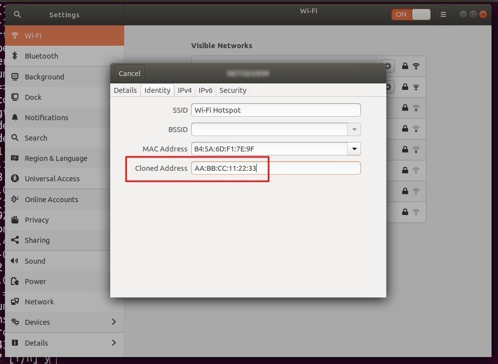 Μέτρα ασφάλειας λειτουργικού συστήματος Ubuntu – Μέρος 2 (Network Attack Defense) Αλλαγή της MAC address