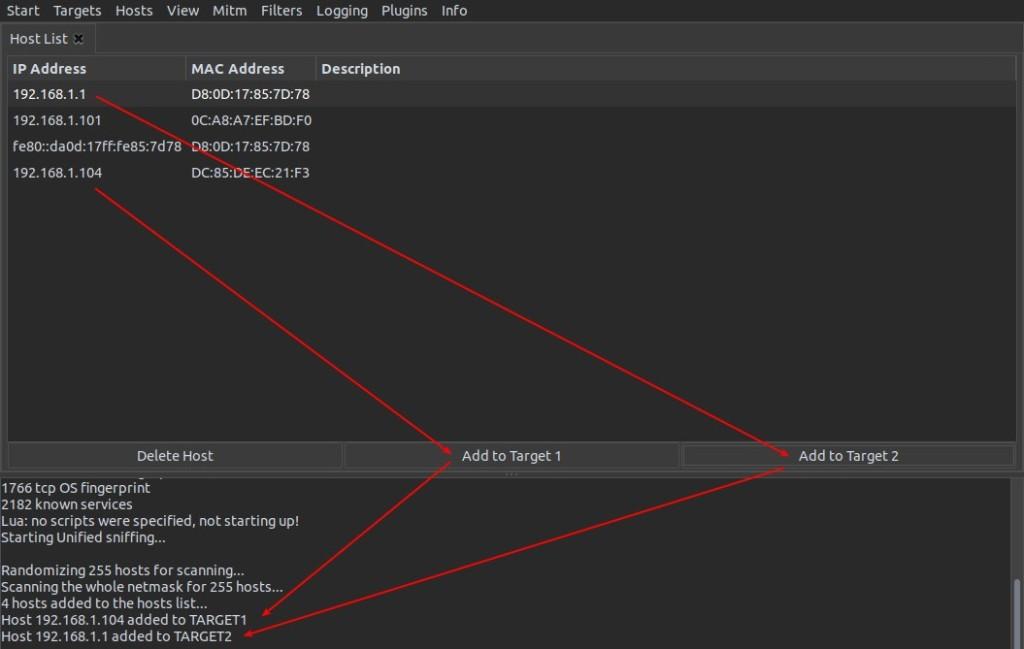 κάντε κλικ για τον στόχο 1 και επιλέξτε add to target 1 το ίδιο με τον στόχο 2 και επιλέξτε add to target 2.