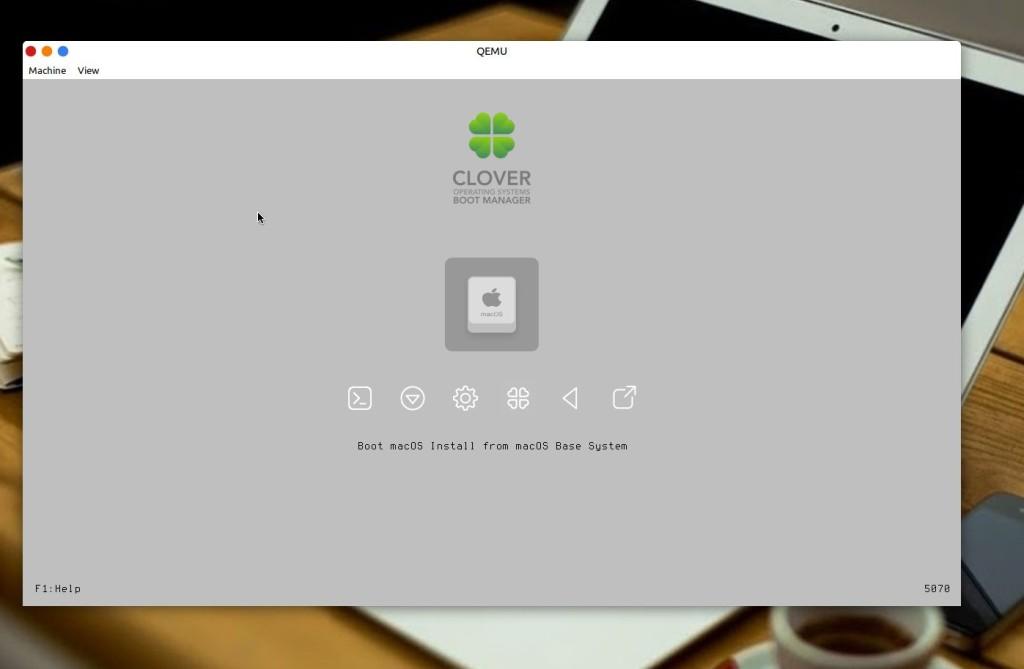Εγκατάσταση macOS μέσα σε Linux μέσω KVM - εκκίνηση εγκατάστασης