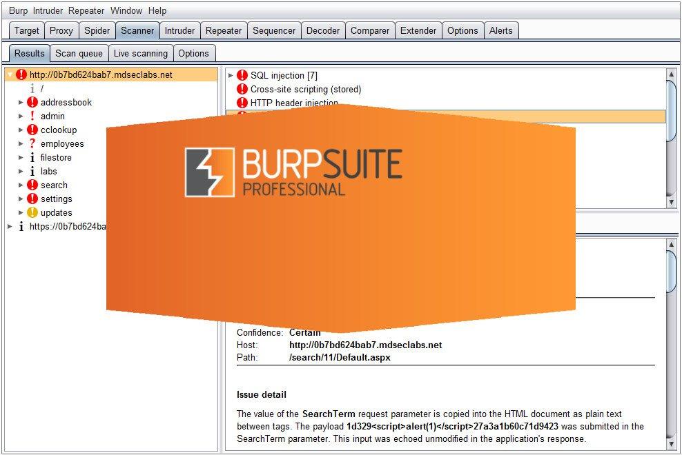 Επίθεση σε Web Application με το Burp Suite και SQL Injection