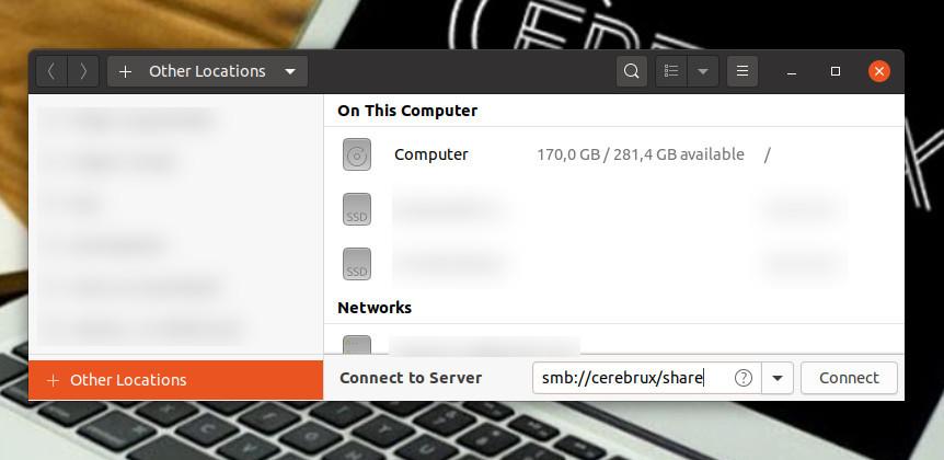 Διαμόρφωση του Ubuntu για κοινή χρήση αρχείων σε GNOME περιβάλλον