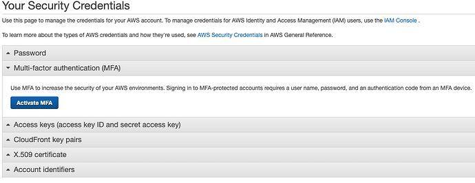 Multi-factor authentication (MFA) και επιλέγουμε Activate MFA