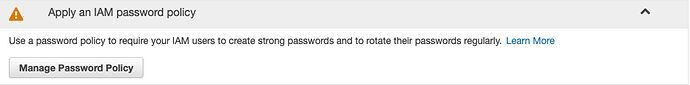 Manage Password Policy