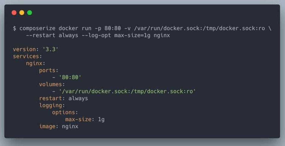 σε περίπτωση που θέλουμε να φτιάξουμε ένα docker compose για nginx