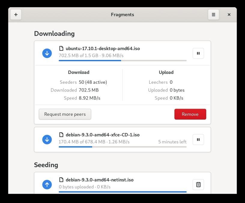 Fragments | Torrent client για GNOME