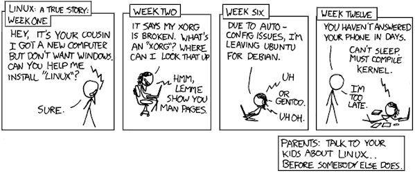Προειδοποίηση για τους χρήστες Linux