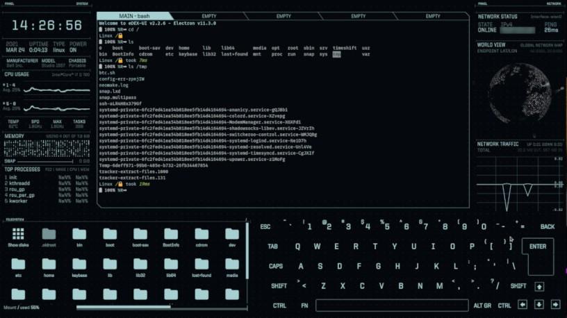 eDEX-UI | Ένα τερματικό από ταινίες sci-fi